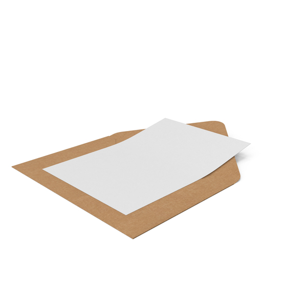 Craft Envelope and Paper Card PNG & PSD Images