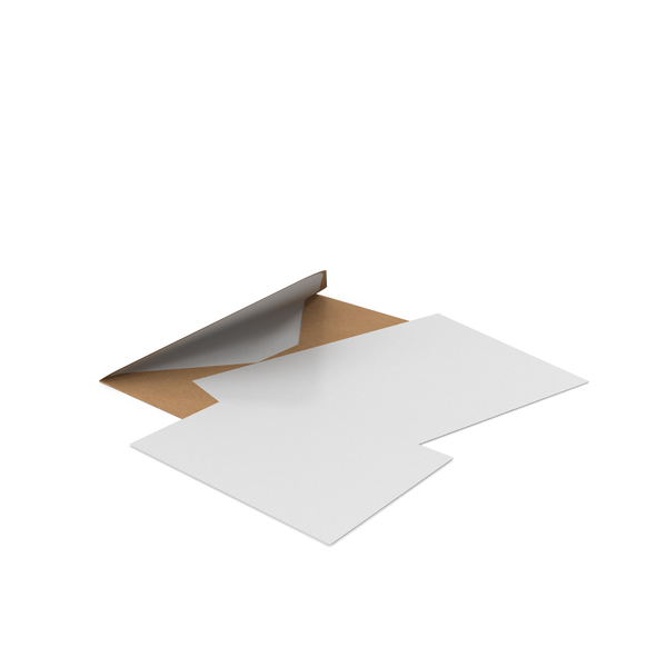 Craft Envelope with Paper Cards PNG & PSD Images