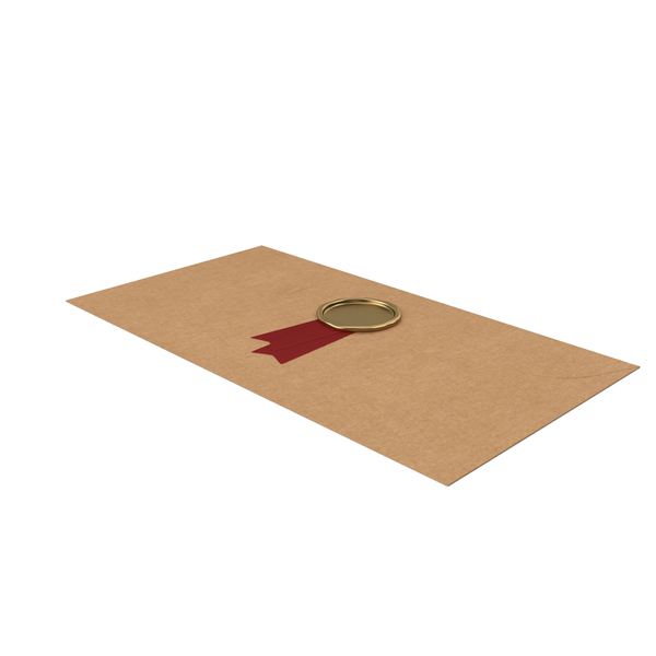 Ribbon: Craft Envelope with Wax Stamp PNG & PSD Images