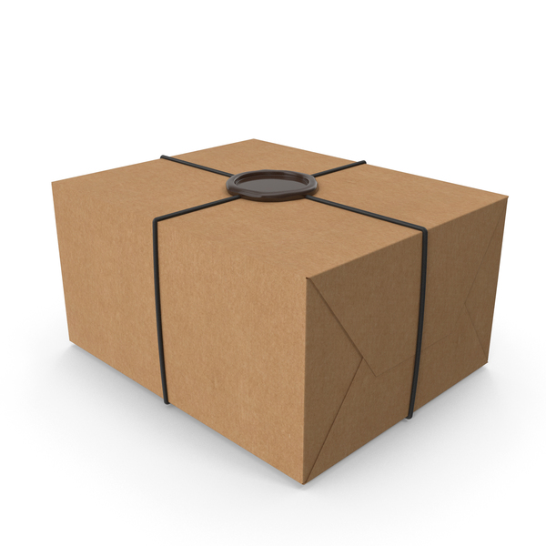 Box: Craft Gift Wrapping with a Wax Seal PNG & PSD Images