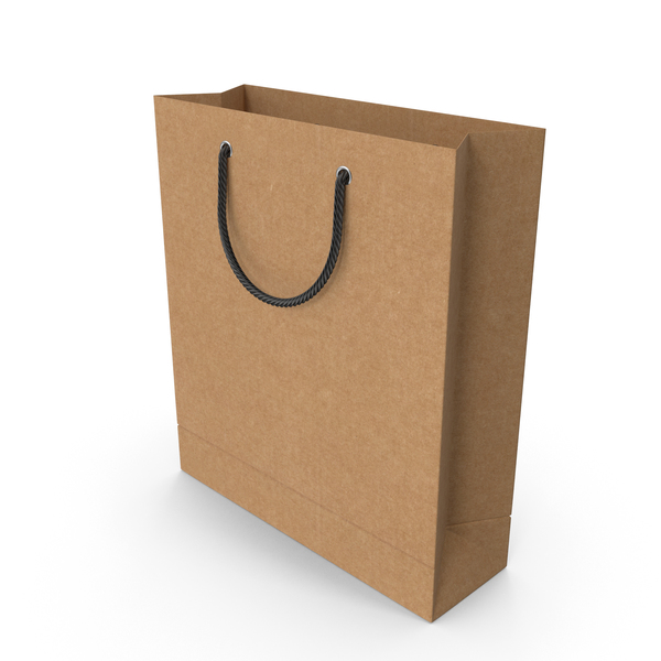 Craft Shopping Bag with Black Handles PNG & PSD Images
