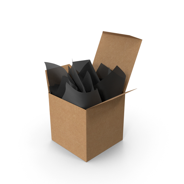 Craft Square Packaging Box with Black Gift Paper PNG & PSD Images