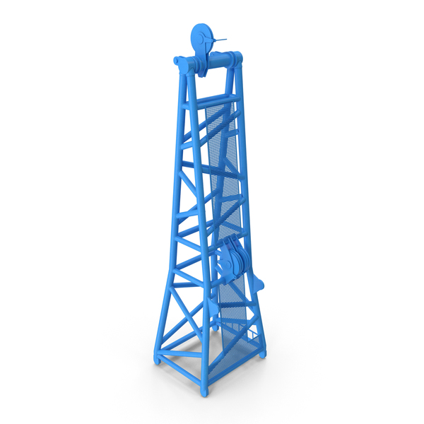 Crane D Head Section 8.5m Blue PNG & PSD Images