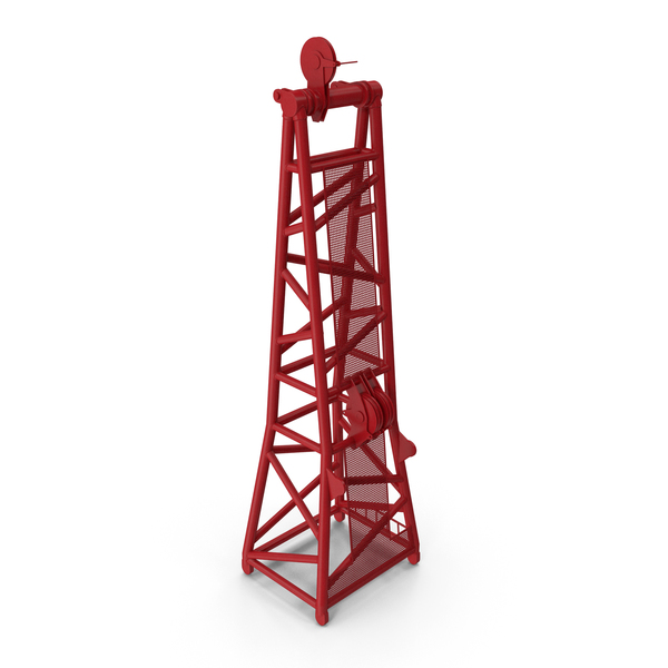 Crane D Head Section 8.5m Red PNG & PSD Images