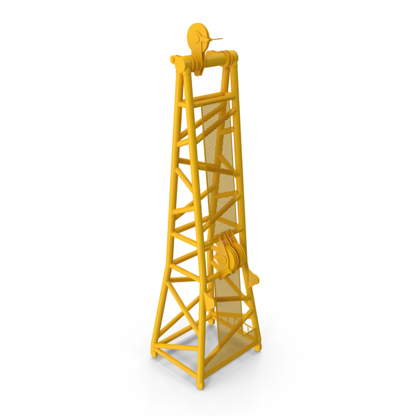 Crane D Head Section 8.5m Yellow PNG & PSD Images