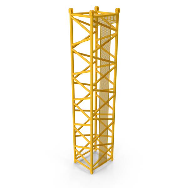 Tower: Crane D Intermediate Section 12m Yellow PNG & PSD Images