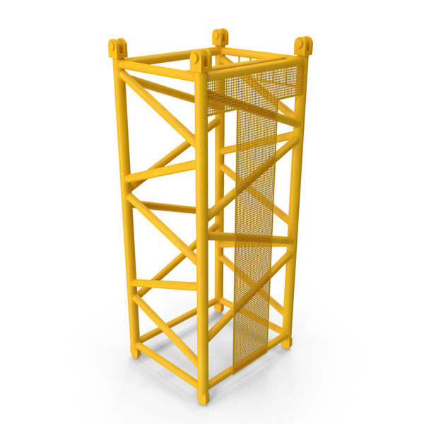 Tower: Crane D Intermediate Section 6m Yellow PNG & PSD Images