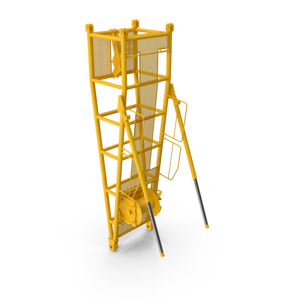 Crane D Pivot Section 9.5 Yellow PNG & PSD Images