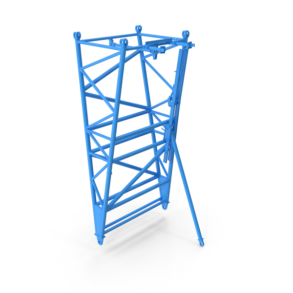 Crane F Intermediate Pivot Section Blue PNG & PSD Images