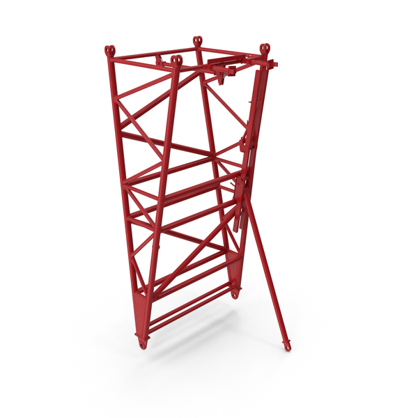 Hook: Crane F Intermediate Pivot Section Red PNG & PSD Images