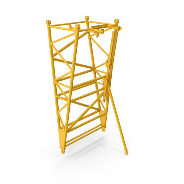 Crane F Intermediate Pivot Section Yellow PNG & PSD Images