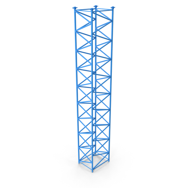 Crane F Intermediate Section 12m Blue PNG & PSD Images