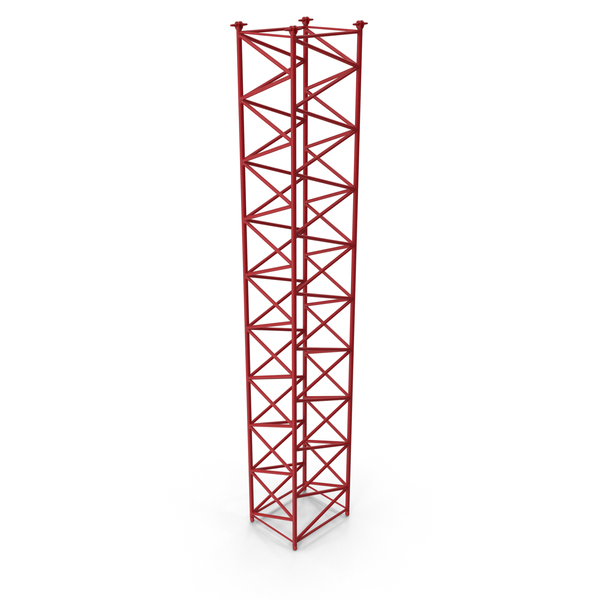 Crane F Intermediate Section 12m Red PNG & PSD Images