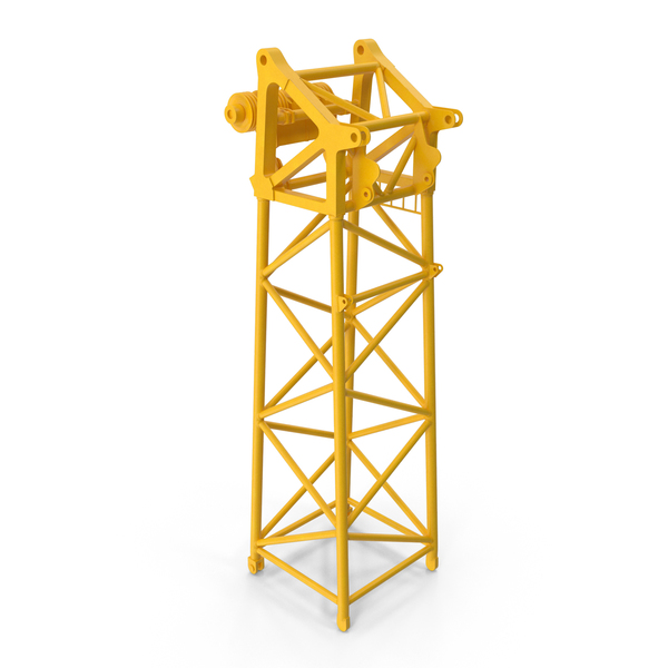 Crane Head Section 10m Yellow PNG & PSD Images