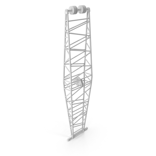 Crane Jib Mast White PNG & PSD Images