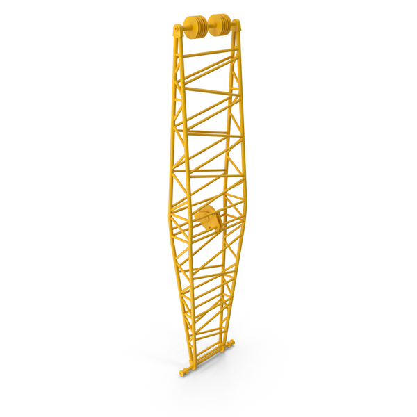 Crane Jib Mast Yellow PNG & PSD Images