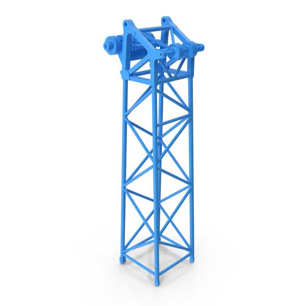 Crane L Head Section 10m Blue PNG & PSD Images