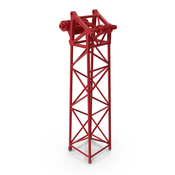 Crane L Head Section 10m Red PNG & PSD Images