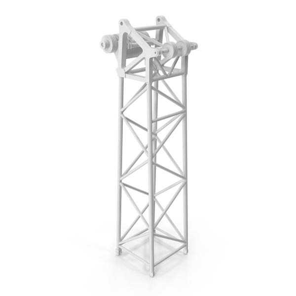Crane L Head Section 10m White PNG & PSD Images