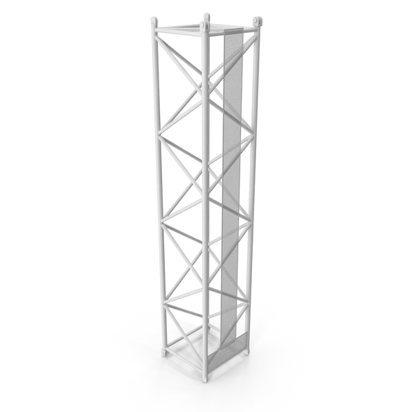 Crane L Intermediate Section 12m White PNG & PSD Images