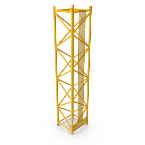 Crane L Intermediate Section 12m Yellow PNG & PSD Images