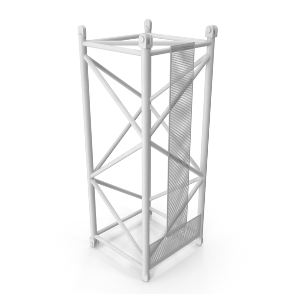 Tower: Crane L Intermediate Section 6m White PNG & PSD Images