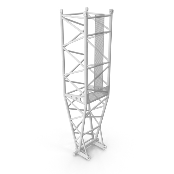 Crane L Pivot Section 10m White PNG & PSD Images