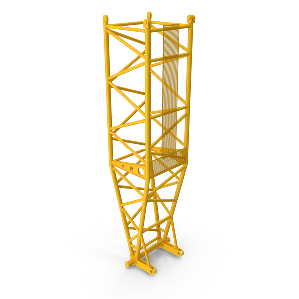 Crane L Pivot Section 10m Yellow PNG & PSD Images