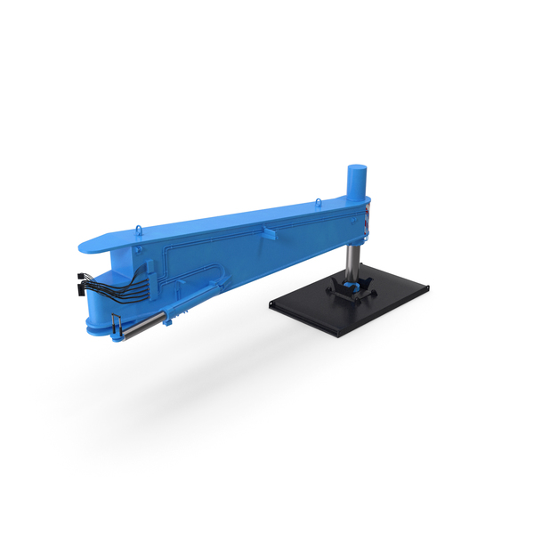 Crane Outrigger Large 01 Blue PNG & PSD Images