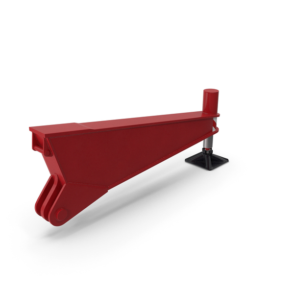 Crane Outrigger Red PNG & PSD Images