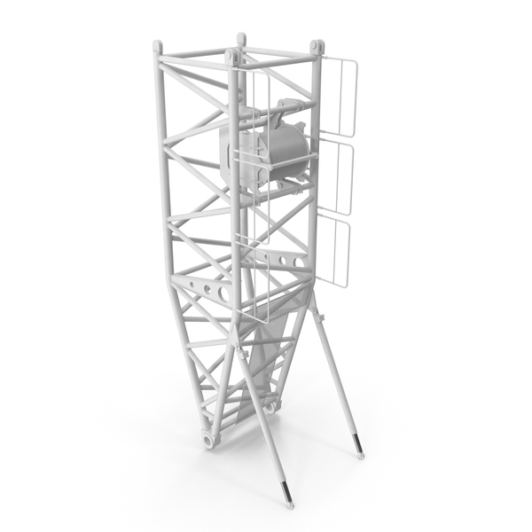 Crane Pivot Section 10m White PNG & PSD Images