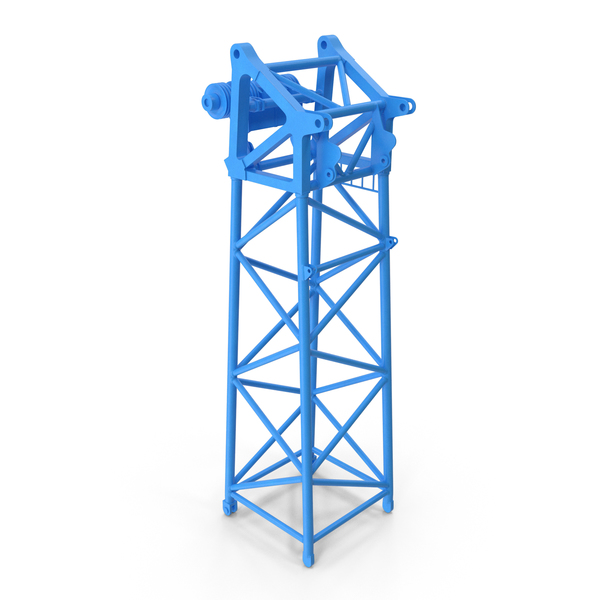 Crane S Head Section 10m Blue PNG & PSD Images