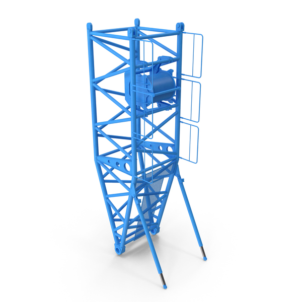 Crane S Pivot Section 10m Blue PNG & PSD Images