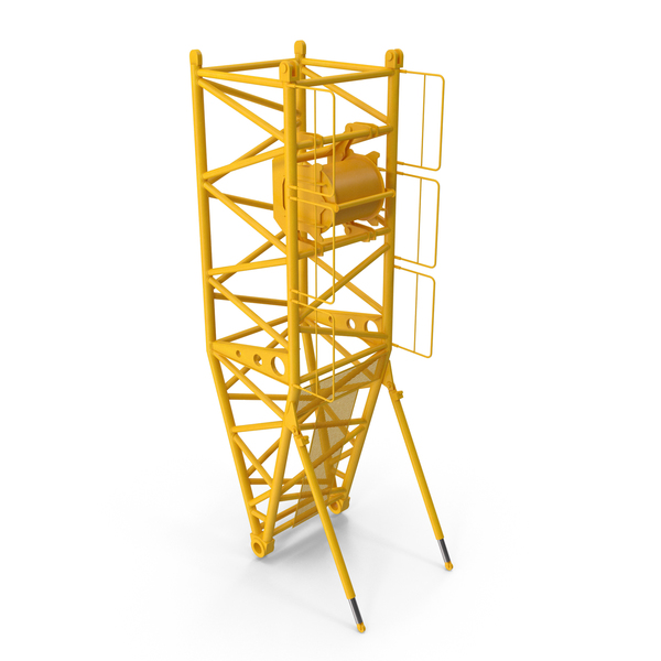 Crane S Pivot Section 10m Yellow PNG & PSD Images