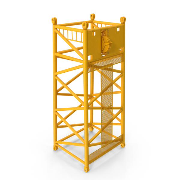 Crane SL Reducing Section 6 75m Yellow PNG & PSD Images