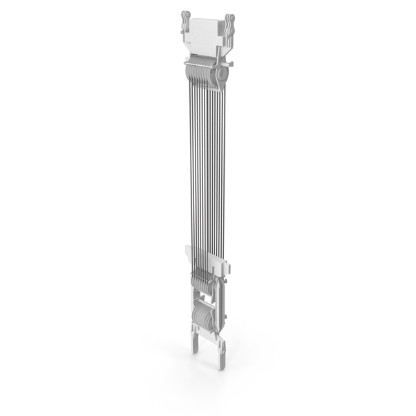 Crane Spool Connector White PNG & PSD Images