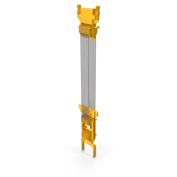 Crane Spool Connector Yellow PNG & PSD Images