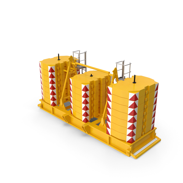 Crane Super - Lift Counterweight Yellow PNG & PSD Images