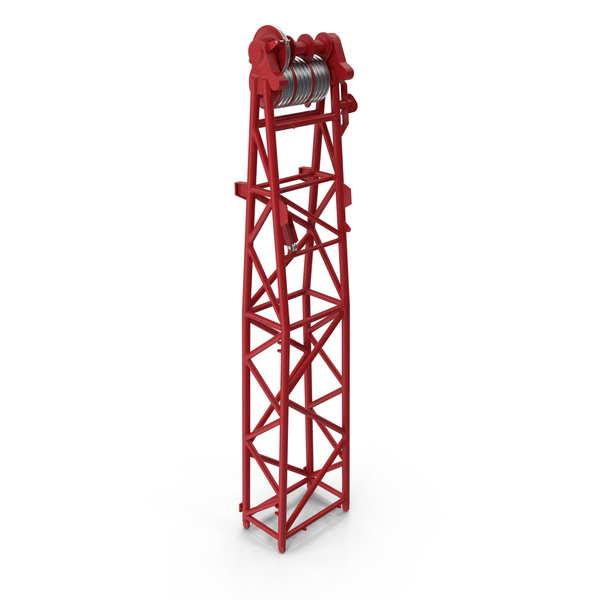 Crane WA Frame 1 Head Section Red PNG & PSD Images