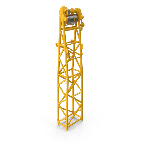 Crane WA Frame 1 Head Section Yellow PNG & PSD Images