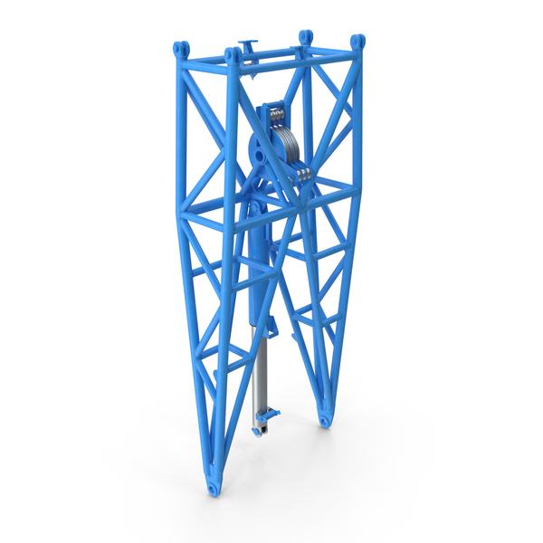 Crane WA Frame 1 Pivot Section Blue PNG & PSD Images