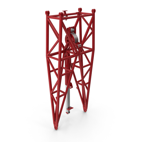 Crane WA Frame 1 Pivot Section Red PNG & PSD Images