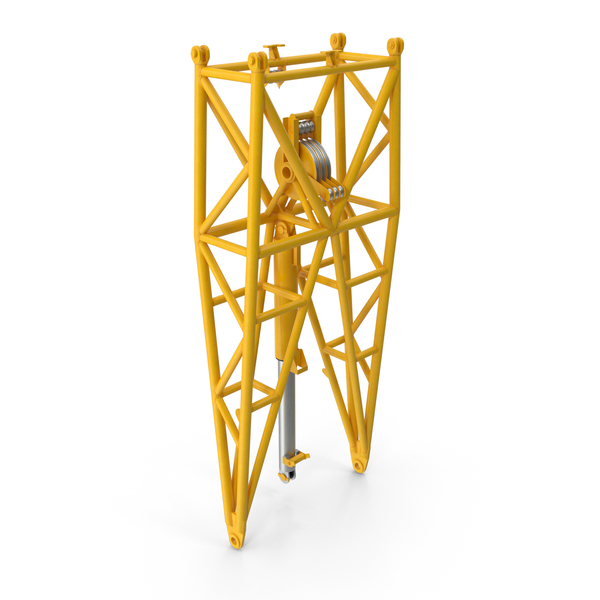 Crane WA Frame 1 Pivot Section Yellow PNG & PSD Images