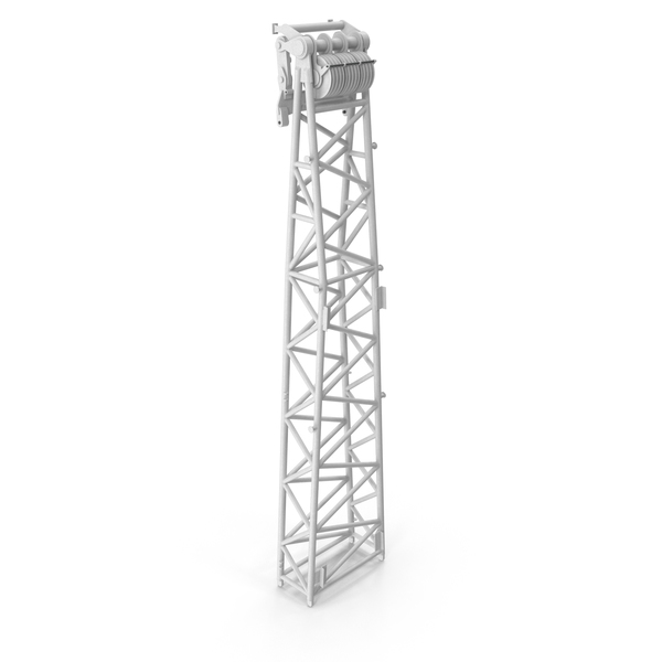 Tower: Crane WA Frame 2 Head Section White PNG & PSD Images
