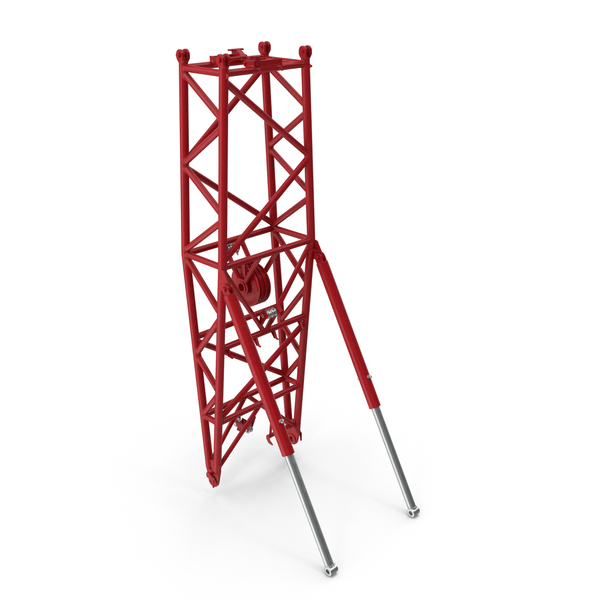 Hook: Crane WA Frame 2 Pivot Section Red PNG & PSD Images