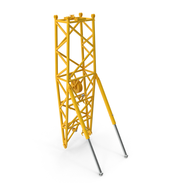 Crane WA Frame 2 Pivot Section Yellow PNG & PSD Images