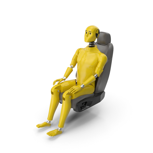 Crash Test Dummy in Car Seat PNG & PSD Images