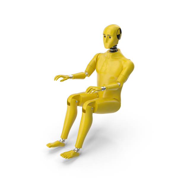 Crash Test Dummy Sitting Posture PNG & PSD Images