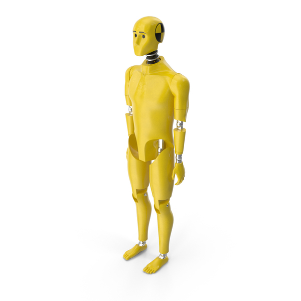 Crash Test Dummy Standing Pose PNG & PSD Images