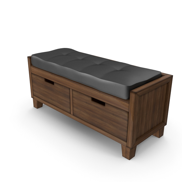 Crate and Barrel - Marin Bench with Cushion PNG & PSD Images